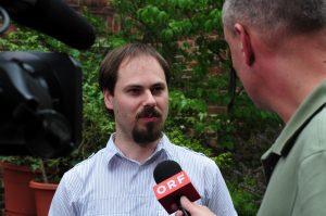 Manuel Schneider auf der Wikimania Washington D.C. 2012