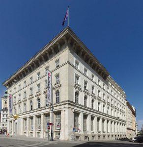 Sitz des Verfassungsgerichtshofs in Wien-Innere Stadt im ehemaligen Gebäude der Österr. Creditanstalt für Handel und Gewerbe. Foto: darkweasel94. CC BY-SA-3.0-at