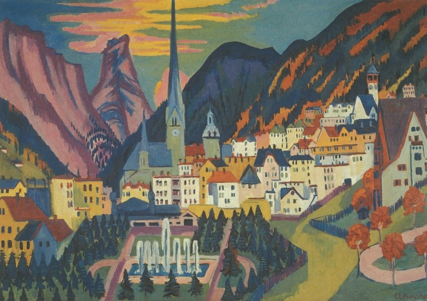 Ernst Ludwig Kirchner: Davos im Sommer, 1925. Quelle: Wikimedia Commons. Lizenz: gemeinfrei