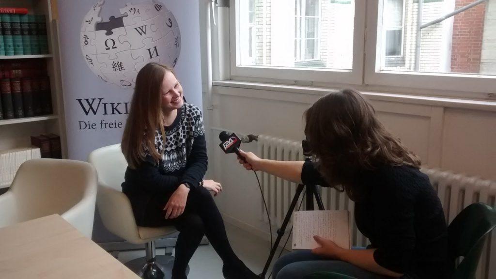 Silvia Stieneker beim Israel-Edit-a-thon 2016 in Berlin. Foto: Silvia Stieneker. Lizenz: CC-BY-SA-4.0