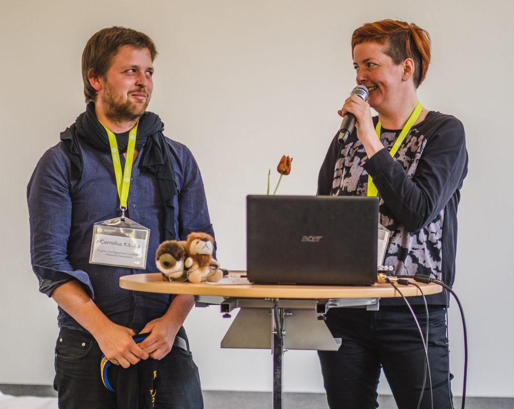 Cornelius Kibelka und Nicole Ebber bei der Wikimedia Conference 2016