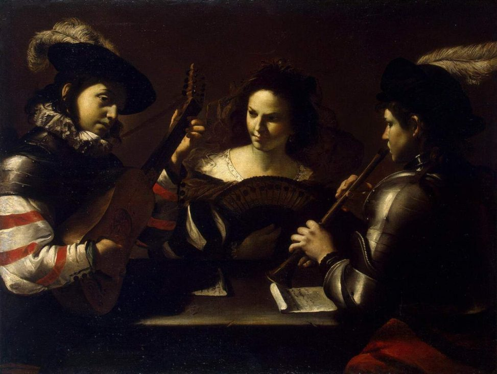 Mattia Preti: Concert. etwa 1630. Public Domain