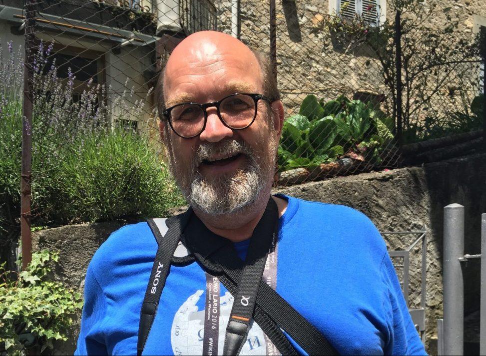 Rainer Halama alias Wuselig bei der Wikimania 2016. Foto: Marco Calvo. Lizenz: CC-BY-SA-4.0