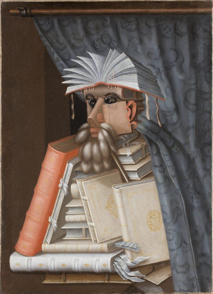 Gemälde Der Bibliothekar von Giuseppe Arcimboldo, gemalt 1562. Quelle: Wikimedia Commons